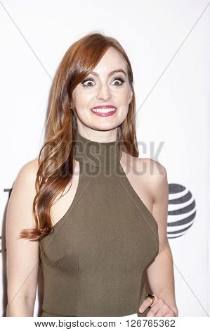 New York NY USA - April 18 2016: Actress Ahna O'Reilly attends the 'Elvis & Nixon' premiere during the 2016 Tribeca Film Festival at the John Zuccotti Theater at BMCC Tribeca Performing Arts Center