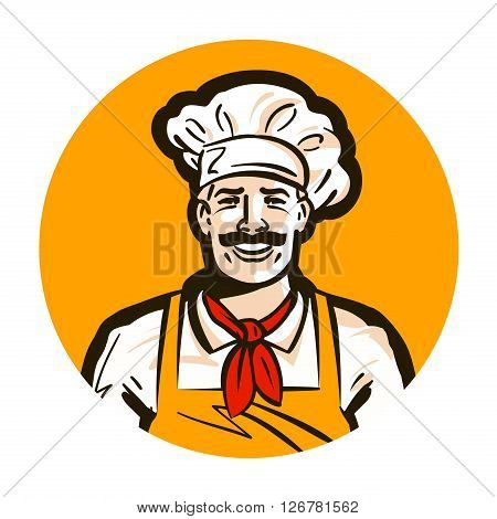cafe, restaurant vector logo. diner or cook, chef icon