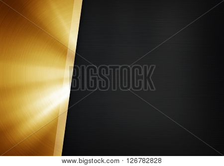 polished metal plate background
