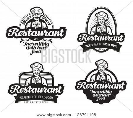 cafe, restaurant vector logo. diner or eatery icon