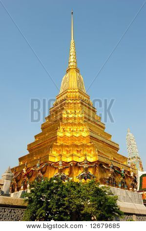 Golden Pagoda In The Grand Palace Area