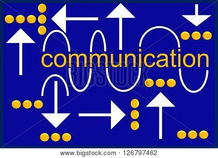 The picture shows one of the types of communication. Communication in its form and content has many variations. This drawing can be used in different spheres.
