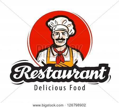 restaurant vector logo. diner, cafe or cook, chef icon