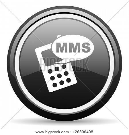 mms black circle glossy web icon
