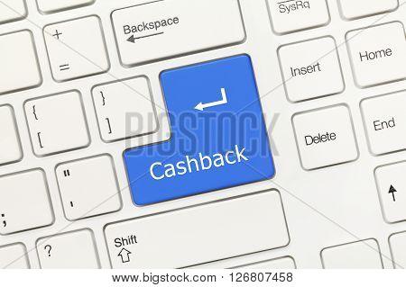 White Conceptual Keyboard - Cashback (blue Key)