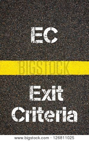 Business Acronym Ec Exit Criteria