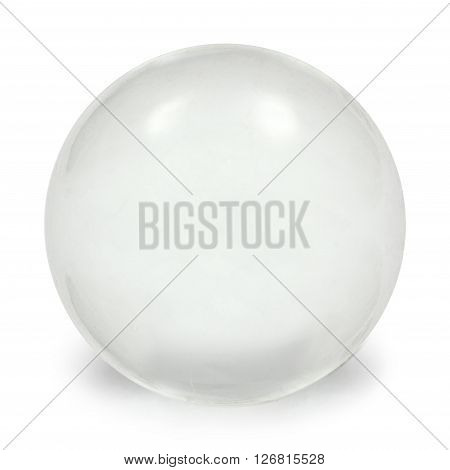 Sphere glass ball isolated on white background with clipping path