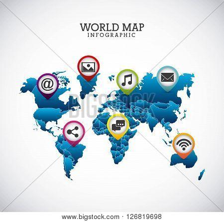 world map design, vector illustration eps10 graphic