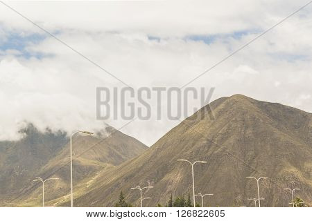 Landscape View Middle Earth Quito Ecuador