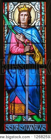 Stained Glass - Saint Sigismund, King Of Burgundy
