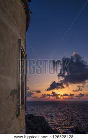 Sunset from the lighthouse in Capo Testa, Sardinia