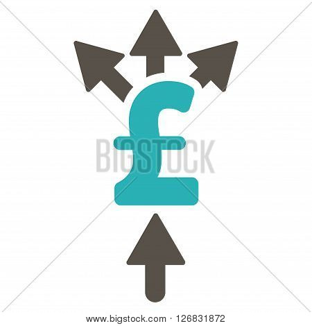 Divide Pound Payment vector icon. Divide Pound Payment icon symbol. Divide Pound Payment icon image. Divide Pound Payment icon picture. Divide Pound Payment pictogram. Flat divide pound payment icon.