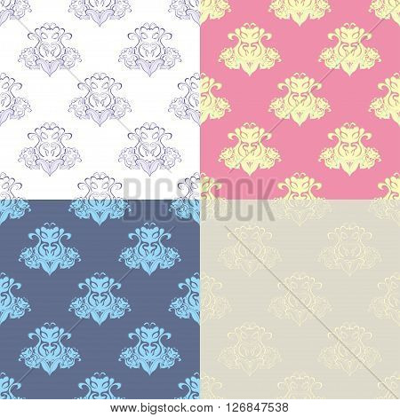 set of seamless pattern of royal subjects. vector illustration
