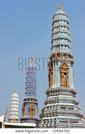 Pagoda in Wat Phra Kaew Thailand
