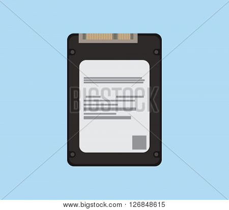 ssd isolated object with flat style vector illustration poster