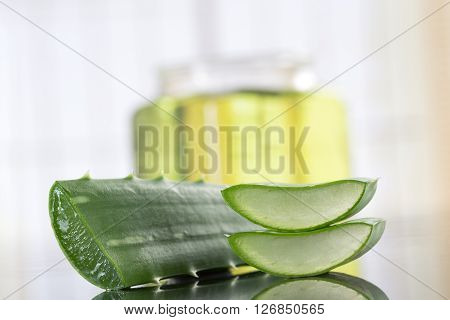 natural cosmetic concept aloes oil  fo bodycare