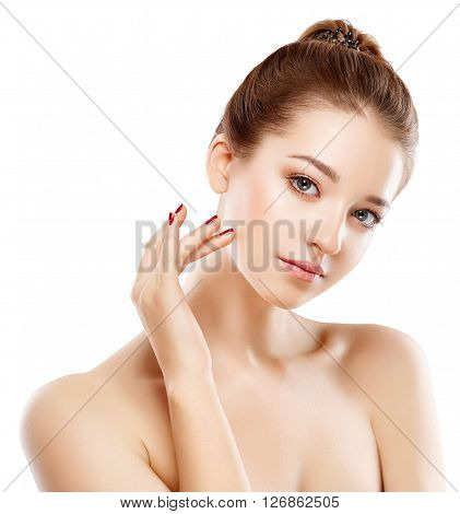 Woman Beauty Portrait Of Attractive Female.