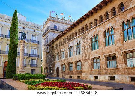 Valencia Palau Generalitat in Manises square at Spain