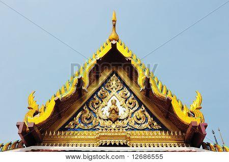Thai roof Roof Wat ratchanatdaram temple