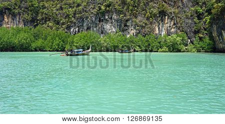 Longtailboat In Lagoon