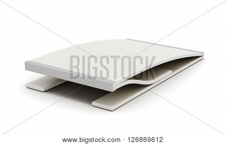 Gymnastic springboard isolated on white background. 3d render image.