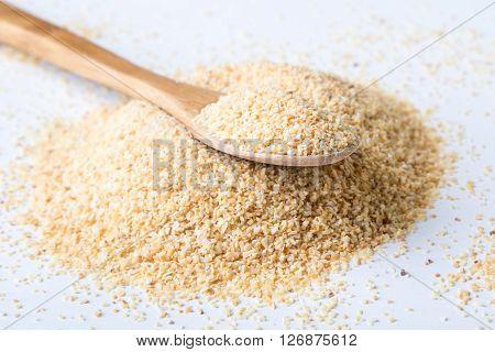 Garlic Powder On White Table