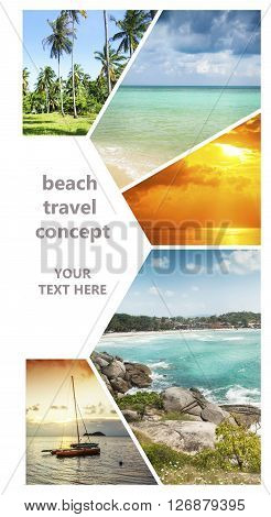 Beautiful vacation collage. Cover for brochures and other