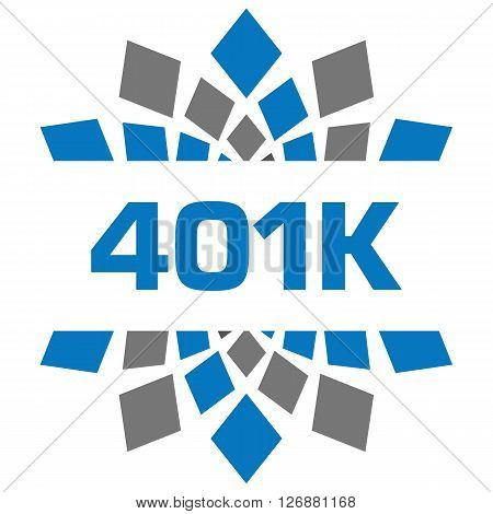 401K text written over abstract blue grey background.