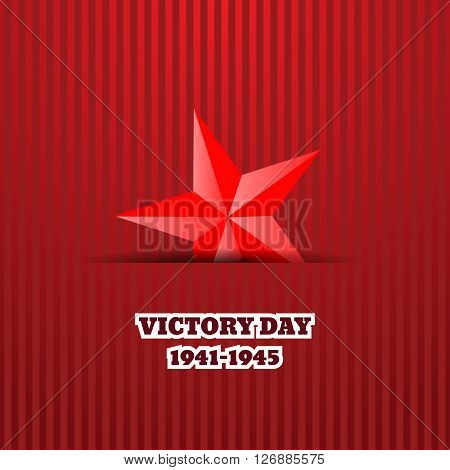 Victory Day With Star Vector Illustration Eps 10 Background