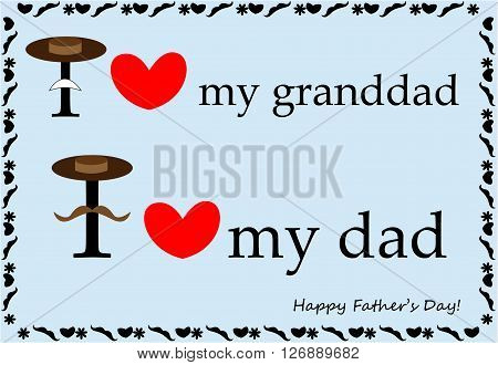 Beautiful postcard. I love my dad. I love my granddad.