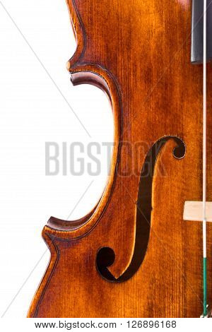 Top View Of A Violin Center Bout And F-hole