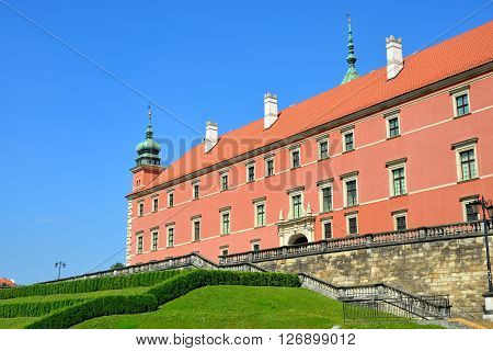 King's Castle In Old Town Of Warsaw