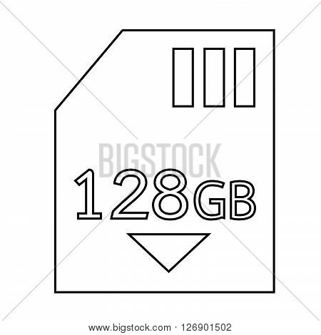 Memory Card 128 Gb icon Illustration design