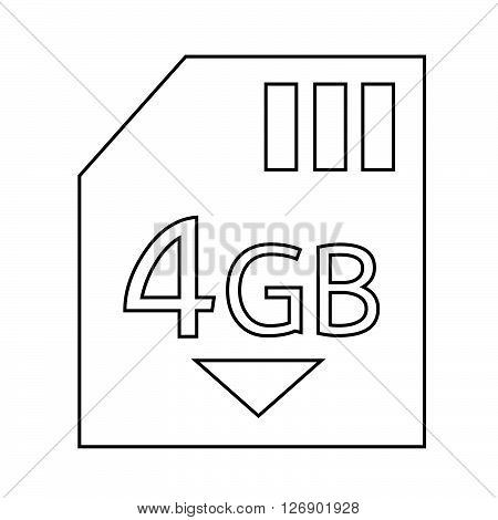 Memory Card 4 Gb icon Illustration design