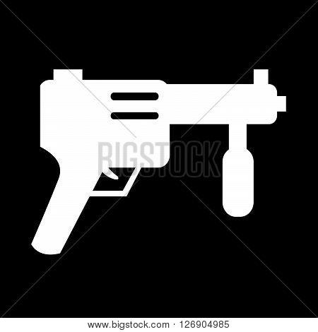 an images of Submachine Gun icon Illustration design