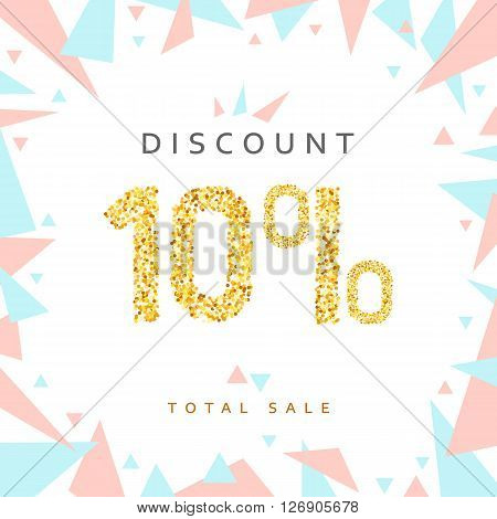 Discount 10. Discounts price tag. Golden discount. Black Friday. Clearance Sale. Discount coupon. Discount gold. Sale discount