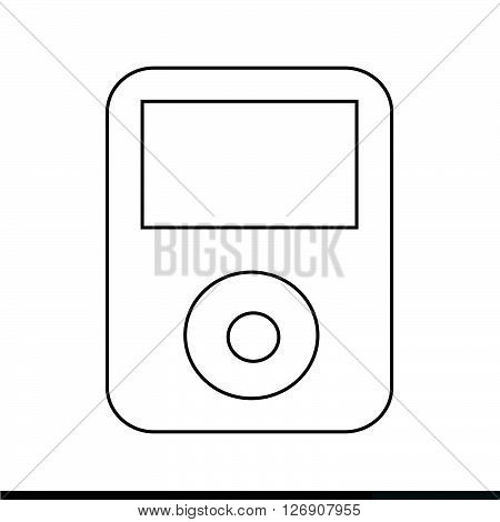 an images of Music Player Icon Illustration design
