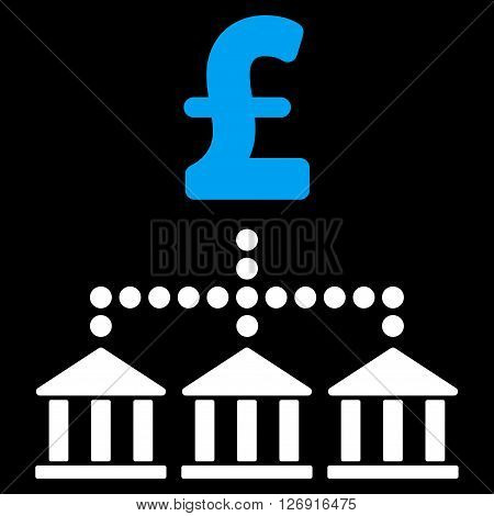 Pound Bank Scheme vector icon. Pound Bank Scheme icon symbol. Pound Bank Scheme icon image. Pound Bank Scheme icon picture. Pound Bank Scheme pictogram. Flat pound bank scheme icon.