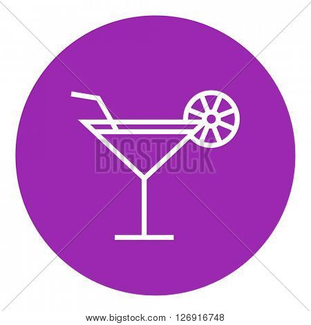 Cocktail glass line icon.