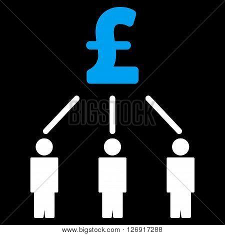 Pound Crowdfunding vector icon. Pound Crowdfunding icon symbol. Pound Crowdfunding icon image. Pound Crowdfunding icon picture. Pound Crowdfunding pictogram. Flat pound crowdfunding icon.