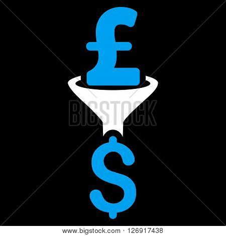 Pound Dollar Conversion Filter vector icon. Pound Dollar Conversion Filter icon symbol. Pound Dollar Conversion Filter icon image. Pound Dollar Conversion Filter icon picture.