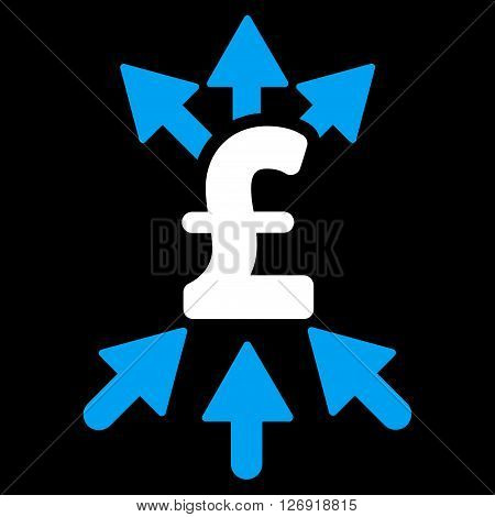 Pound Payment Broker vector icon. Pound Payment Broker icon symbol. Pound Payment Broker icon image. Pound Payment Broker icon picture. Pound Payment Broker pictogram. Flat pound payment broker icon.