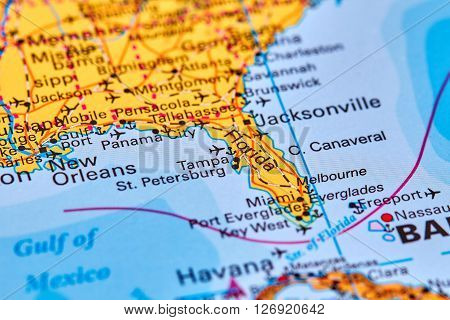 Florida On The Map