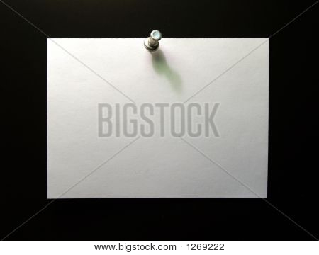Blank Note With Pushpen (Your Message Here)