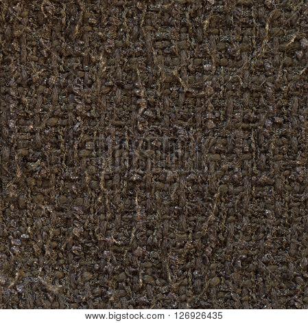Dark Magenta grey woven woolen fabric texture. Complicated melange. Close up fragment of the top view.