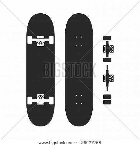 A skateboard is a type of sports equipment used primarily for the activity of skateboarding.