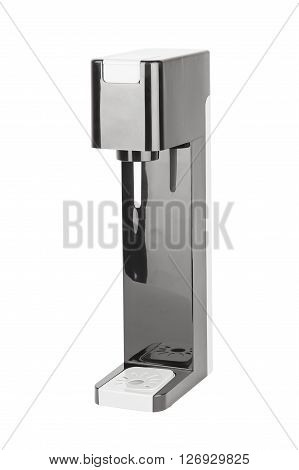 Soda sifon or Seltzer bottle. Side view. Isolated on white background.