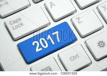 2017 On White Keyboard