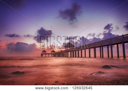 Sunrise at fisherman jetty - Nature landscape ** Note: Soft Focus at 100%, best at smaller sizes