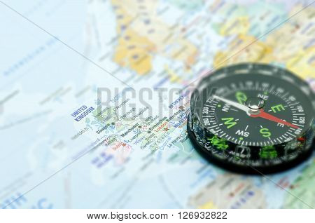 Maps and Compass London Travel destination - Holiday concept